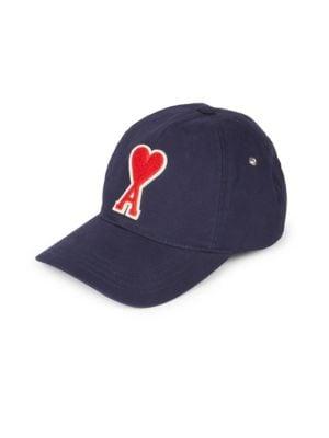AMI ALEXANDRE MATTIUSSI AMI HEART EMBROIDERED BASEBALL CAP f2c59f38b6a