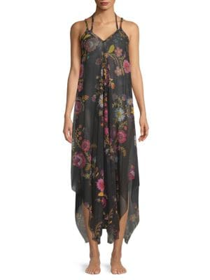 FUZZI SWIM Folk Floral Coverup