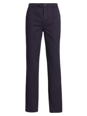 Straight-Fit Cotton Pants