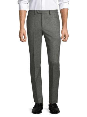 Paul Straight-Fit Birdseye Flannel Wool Pants