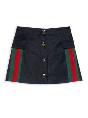 Little & Big Girl's Wool & Cashmere A-Line Skirt