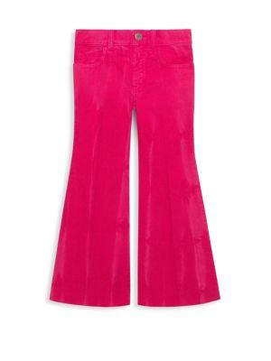 Little Girl's & Girl's Velvet Flare Pants