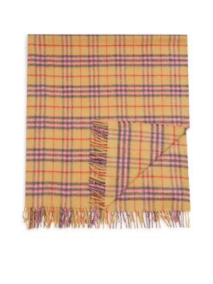 Vintage Check Cashmere Blanket
