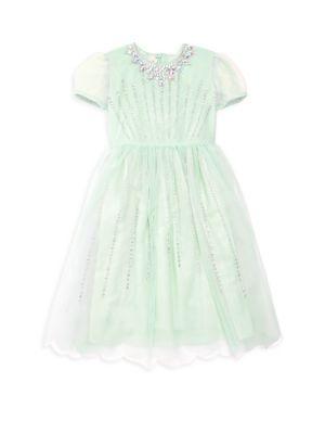 Girl's Dandy Embellished Tulle Dress
