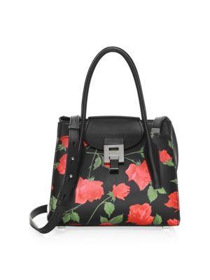 Medium Bandcroft Floral Leather Satchel