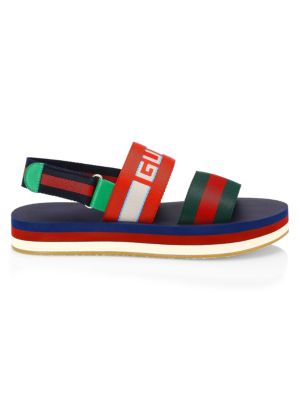 GUCCI Bedlam Logo Stripe Sandals
