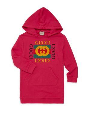Little Girl's & Girl's Logo Tunic Hoodie