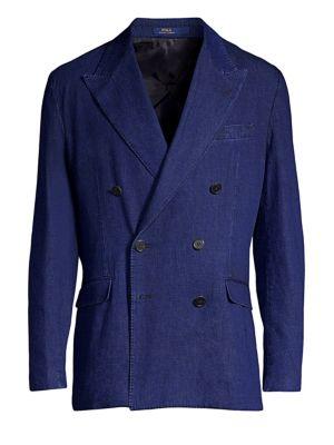 Indigo Double-Breasted Denim Sportcoat