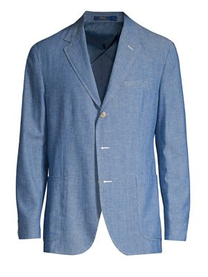 Cotton Classic-Fit Chambray Sportcoat