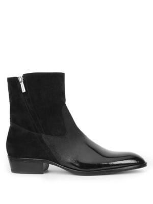 Bruno MagliRisoli Suede and Patent Leather Boots SxqPh