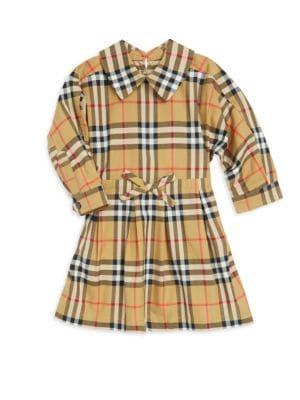BURBERRY | Baby Girl's & Little Girl's Plaid Cotton Dress | Goxip
