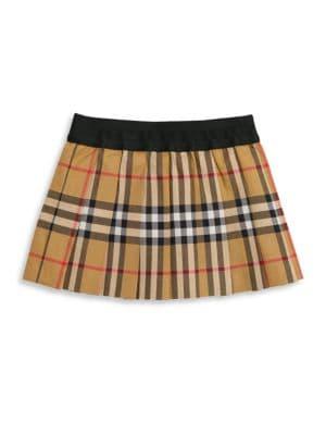 BURBERRY | Baby Girl's & Little Girl's Pansie Plaid Skirt | Goxip