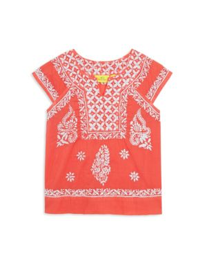Little Girl's & Girl's Neapolitan Archipelago Faith Cotton Top