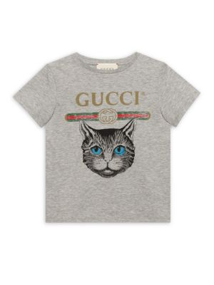 Little Girl's & Girl's Cat Face Tee