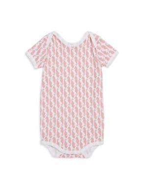 Baby Girl's Neapolitan Archipelago Horsea-Print Short-Sleeve Bodysuit