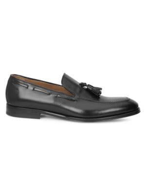 BRUNO MAGLI Fabiolo Tasseled Apron Toe Loafer in Black