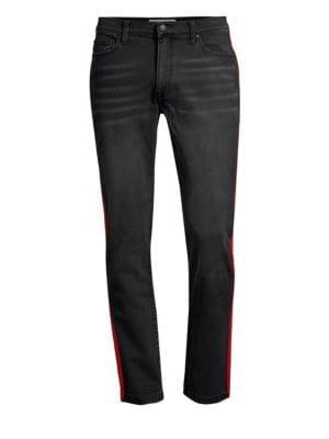 OVADIA & SONS Slim Fit Stripe Jeans