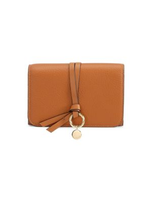 French Alphabet Leather Continental Flap Wallet