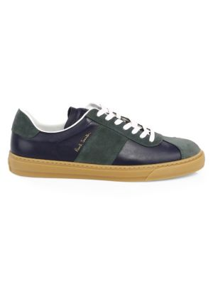 Levon Suede And Leather Sneakers - GreenPaul Smith MqyTn1A
