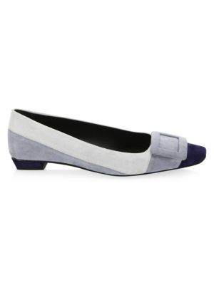 Belle Suede Colorblock Flats