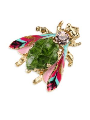 Glass Cabochon Insect Brooch