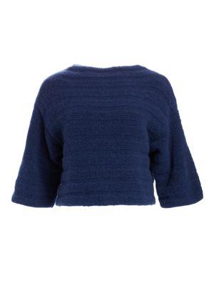 Cashmere & Silk Rib-Knit Sweater