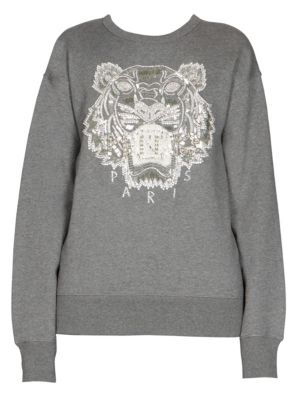 Beaded Tiger Sweatshirt