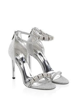 Camelle Swarovski Crystal Stiletto Sandals