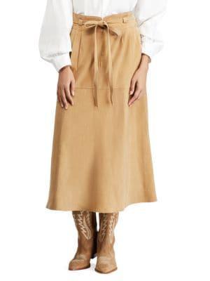 Kinsley Suede Midi Skirt