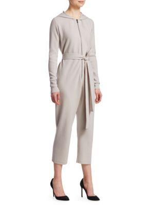 GENTRY PORTOFINO | Hooded Cashmere Jumpsuit | Goxip