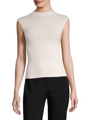 Fasmine Mockneck Sleeveless Knit Blouse