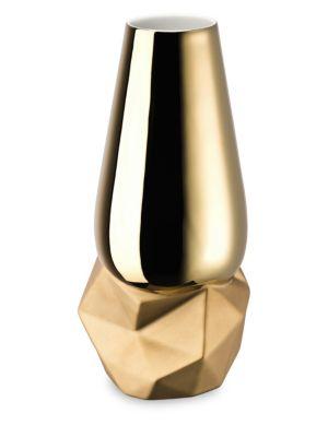 Geode Gold Titanium Vase