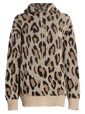 Cashmere Leopard Hoodie