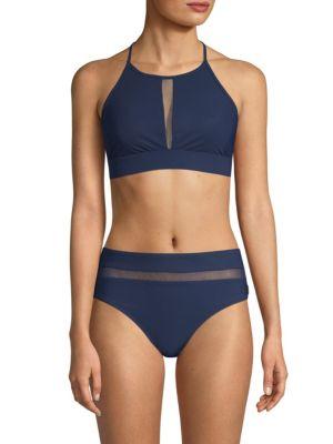 SHAN Mesh Halter Bikini Top