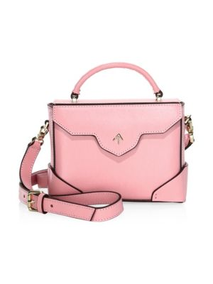 6736e3c486 MANU ATELIER MICRO BOLD LEATHER SHOULDER BAG WITH CHAIN STRAP ...