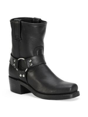 Harness Leather Mid-Calf Boots