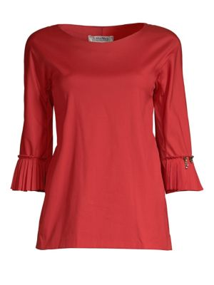 Pleated Cuff Blouse by Max Mara