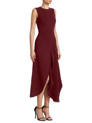Ruffle Asymmetric Dress