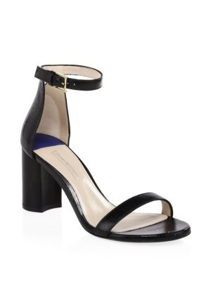 75 Less Nudist Leather Ankle Strap Sandals by Stuart Weitzman