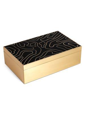 Isles Resin & Brass Box