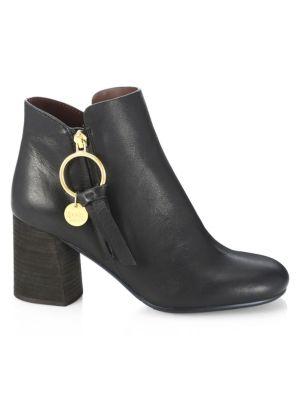 Louise Stacked Heel Booties