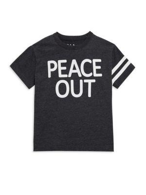 Little Boy's & Boy's Cotton-Blend Peace Out Tee