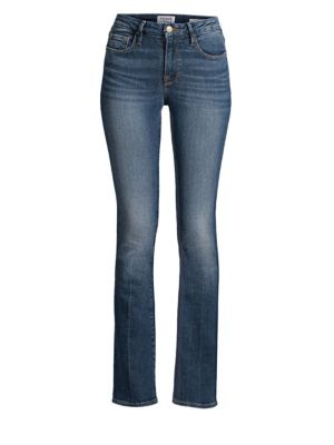 Le Mini Mid-Rise Bootcut Jeans