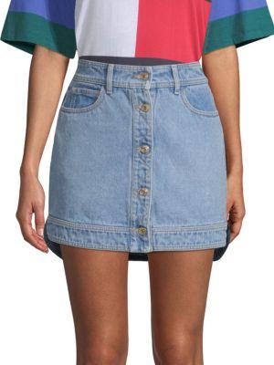 Denim Hybrid Mini Skirt