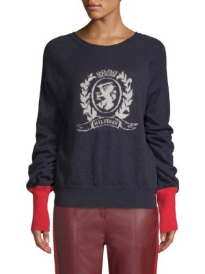 TOMMY HILFIGER COLLECTION Alpaca Crest Pullover Sweater