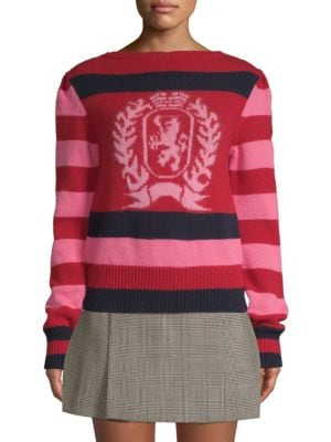 TOMMY HILFIGER COLLECTION Striped Wool Crest Sweater