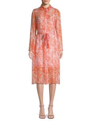 ESCADA SPORT Dablossom Python-Print Silk Dress
