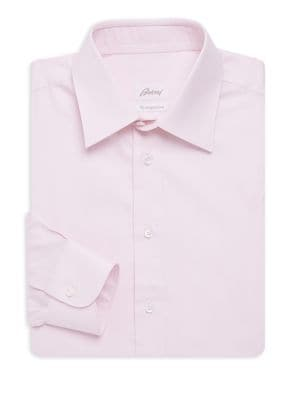Classic-Fit Herringbone Cotton Dress Shirt