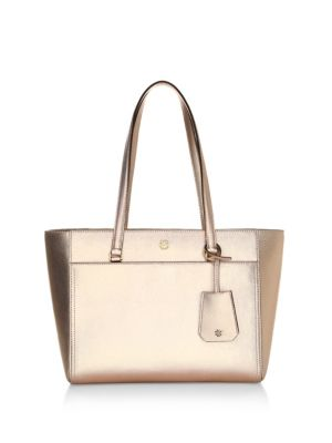 SMALL ROBINSON LEATHER TOTE - PINK