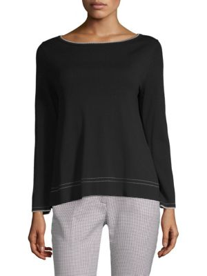 Limosa Contrast-Trimmed Knit Sweater